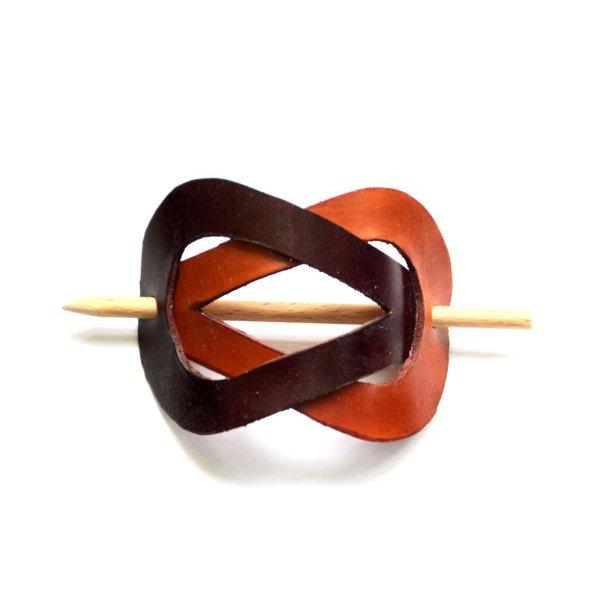 barette cheveux en cuir artisanal