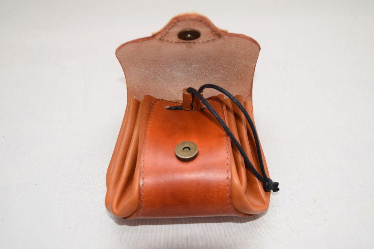 Bourse médièvale cuir
