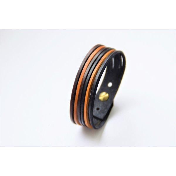 bracelet cuir 6 brins couleurs
