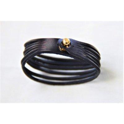 bracelet cuir multicolore 6 brins
