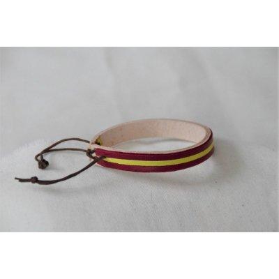 Bracelet cuir 2 couleurs