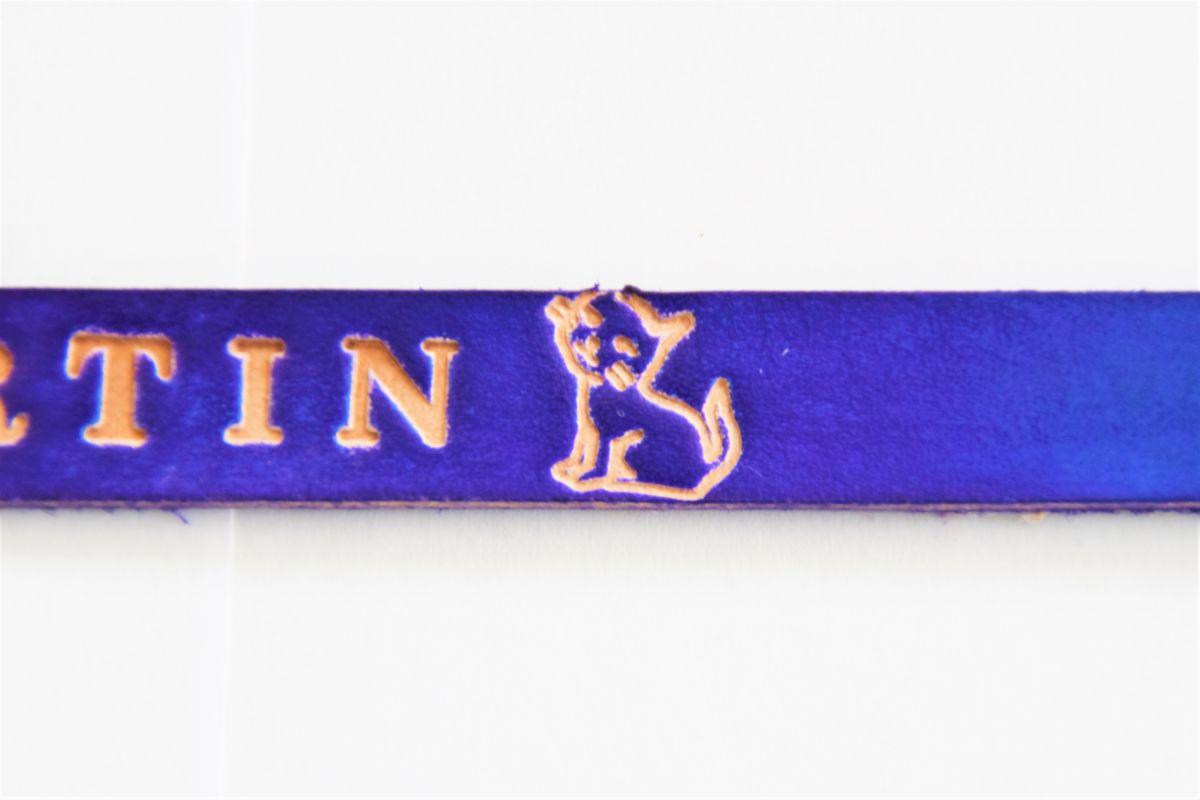 bracelet personnalisé cuir gravé or