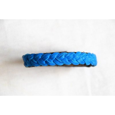 bracelet tressé cuir