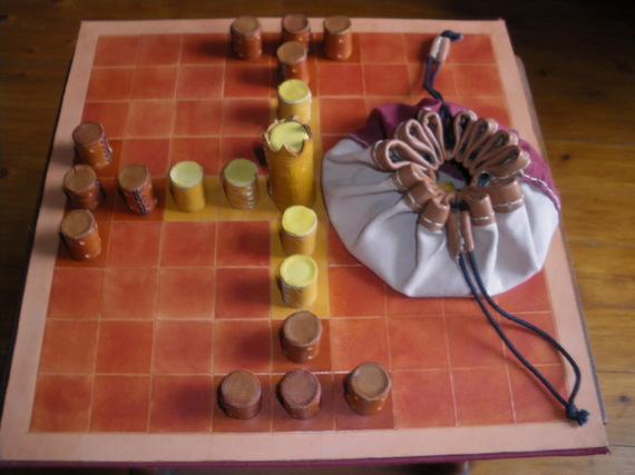 jeu de tablut en cuir