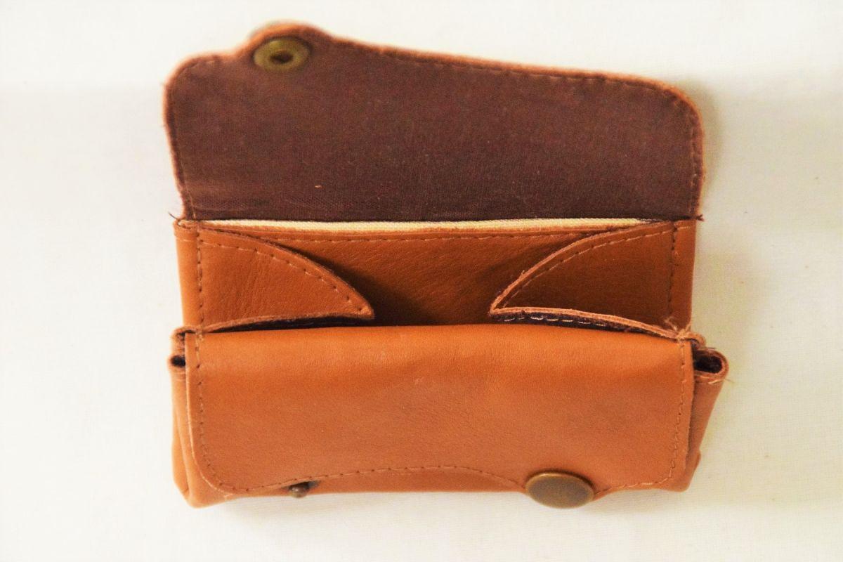 porte-monnaie cuir marron