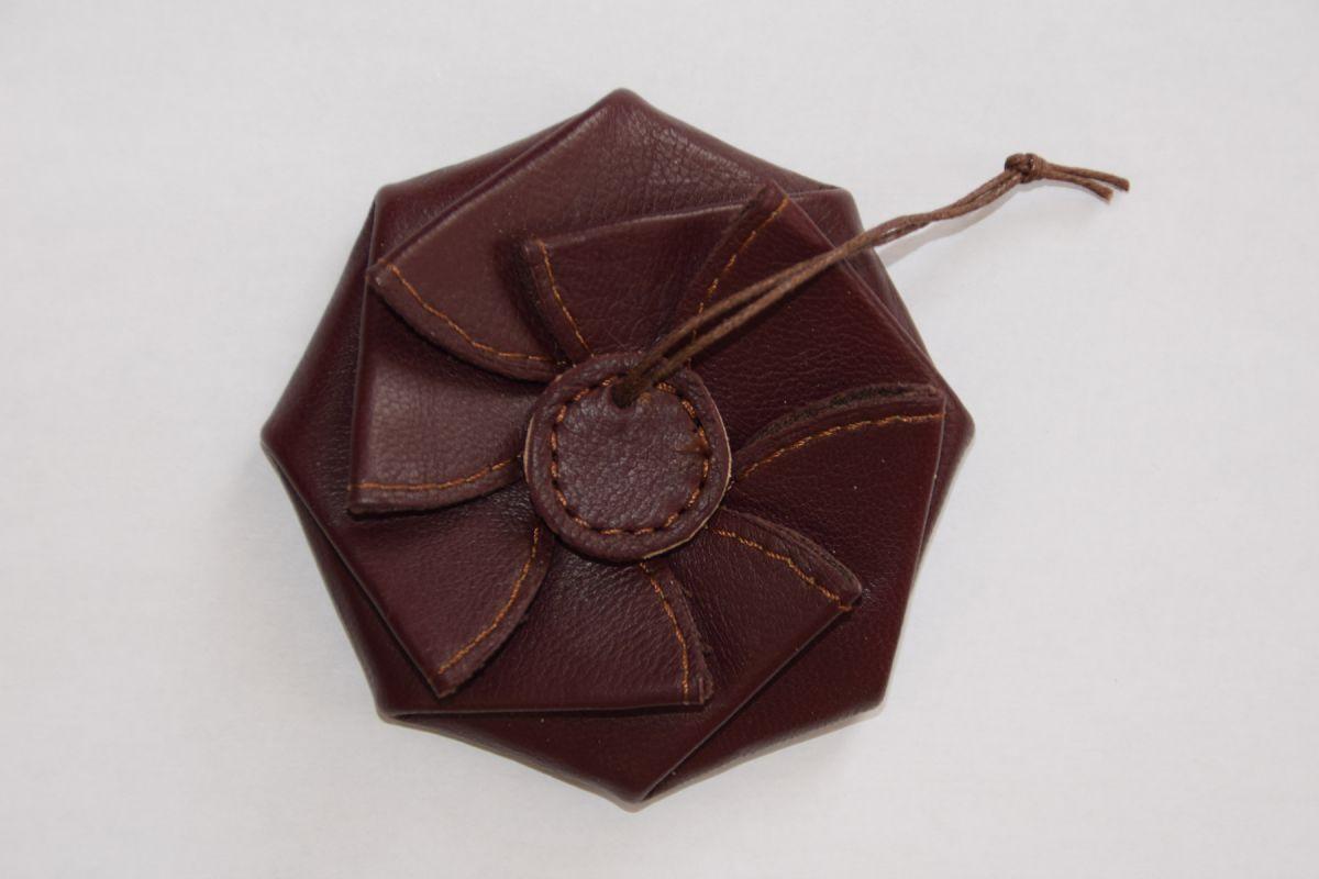 Porte-monnaie en cuir fait-main