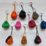 mini-bourse porte-clés cuir