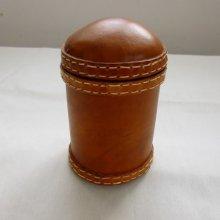 pot  décoratif cuir fait-main